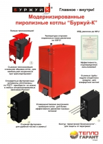 Пиролизный котел Буржуй-К Т-24АН Модернизированный